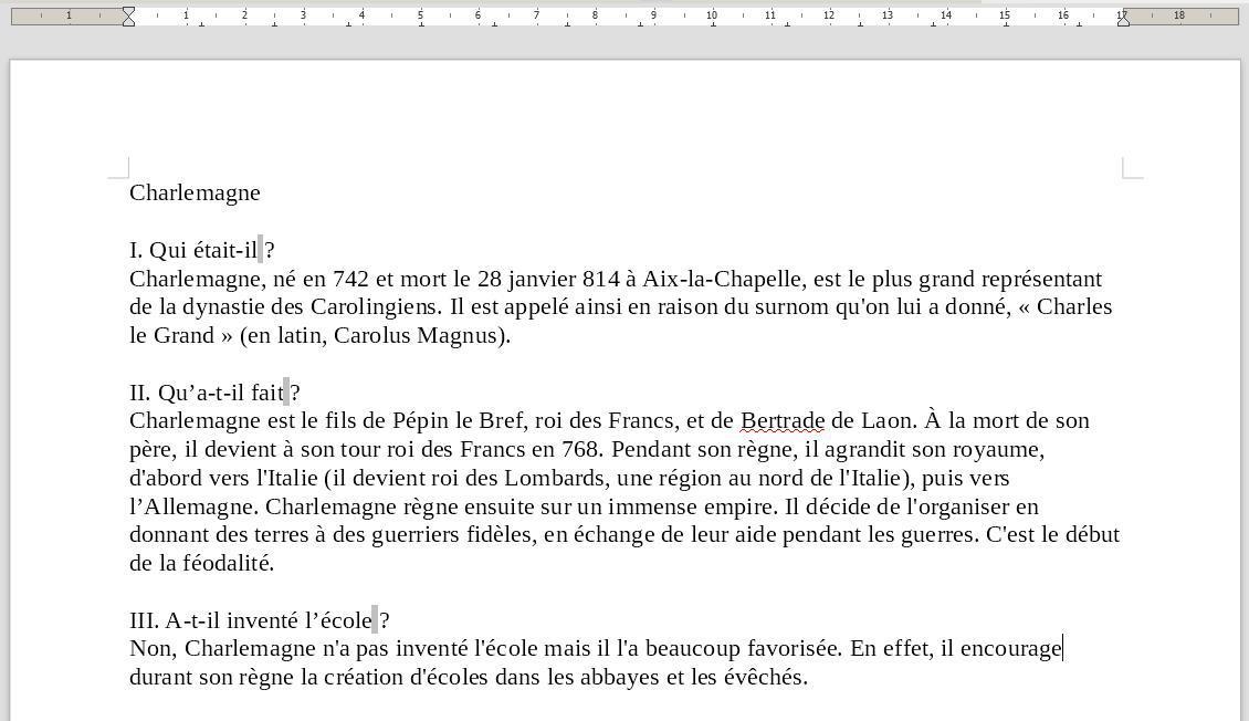 Tp Utiliser Le Traitement De Texte Libre Office Writer Module N 7